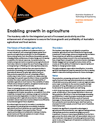 Enabling growth in agriculture