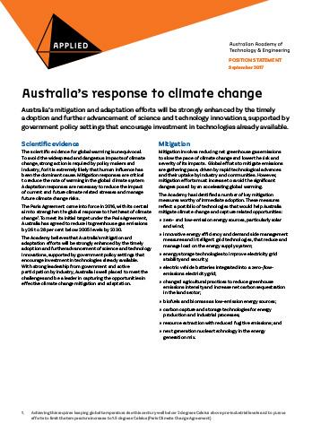 Australia's response to climate change