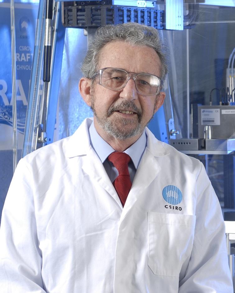 Ezio Rizzardo in lab coat