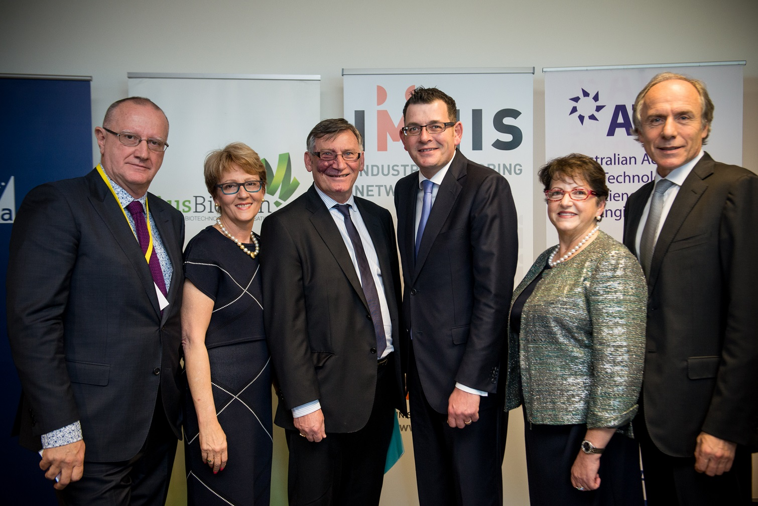 The founders of IMNIS with Victorian Premier Daniel Andrews