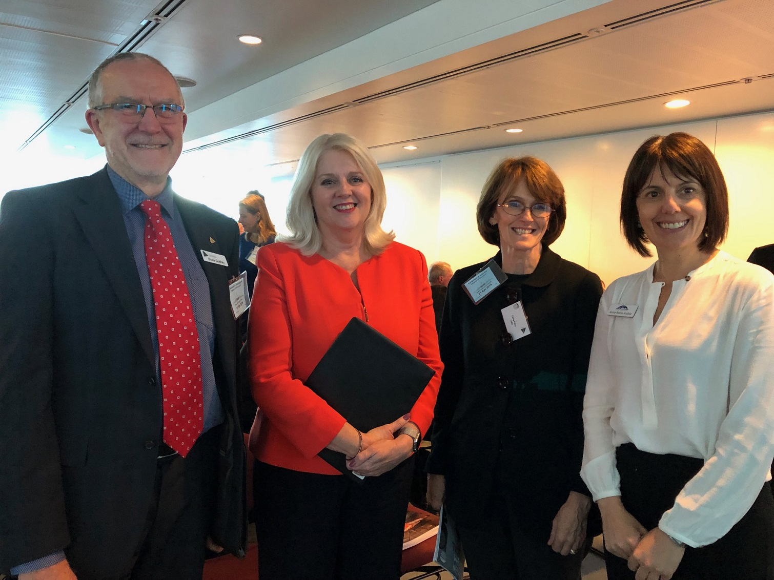 Bruce Godfrey, Karen Andrews, Catherine Foley, Anna-Maria Arabia at the launch of the Women in STEM Decadal Plan