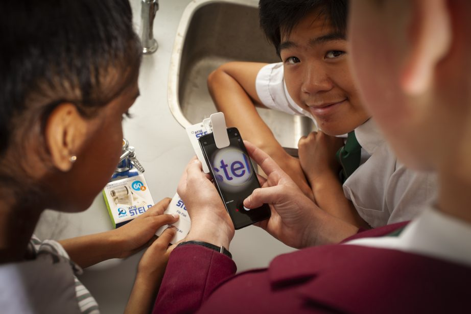 Students from South Oakleigh College use STELR equipment in the classroom. Photo: Eamon Gallagher.