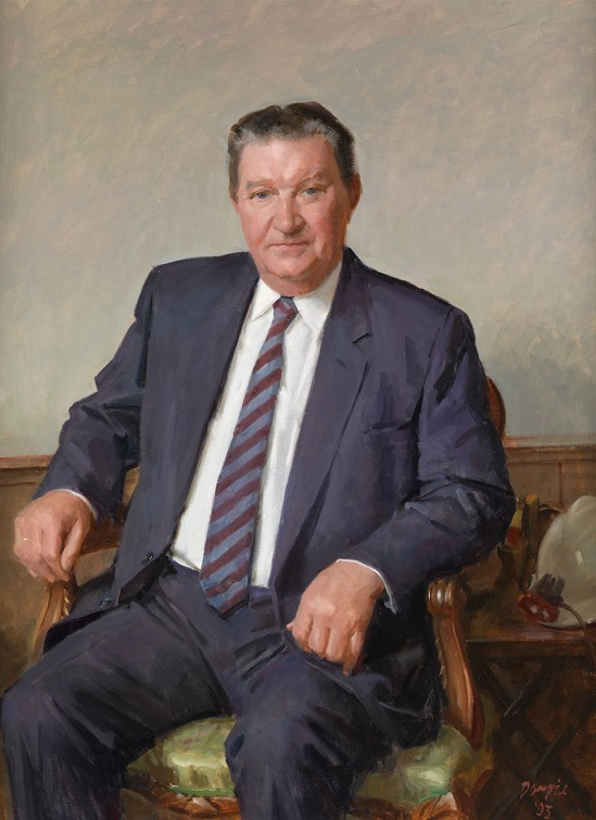 Sir Arvi Parbo, 1993, by William Dargie; National Portrait Gallery of Australia