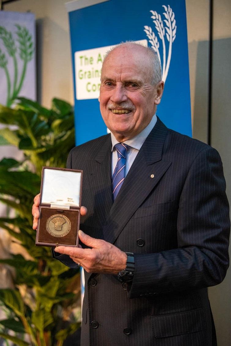 Tim Reeves with medal