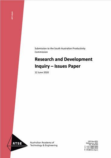 Research and Development Inquiry – Issues Paper
