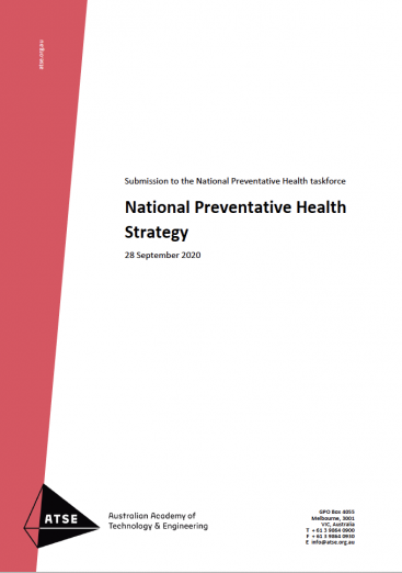 ATSE SUBMISSION National Preventative Health Strategy