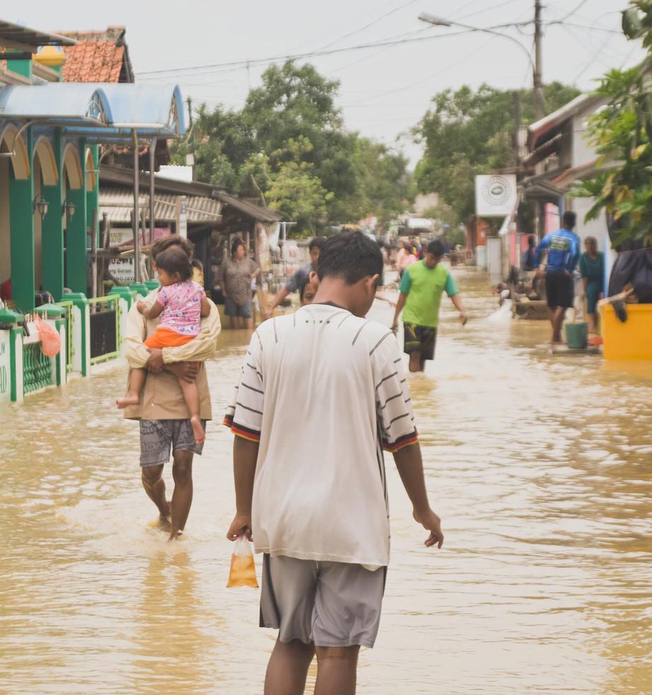 man in flood
