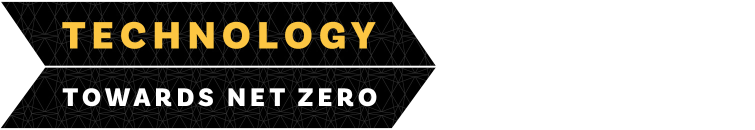 Technology Towards Net Zero logo in the shape of an arrow