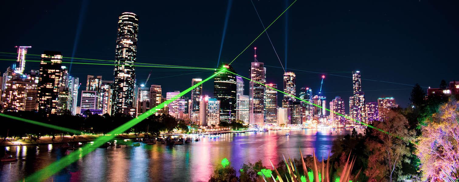 Brisbane city skyline at night